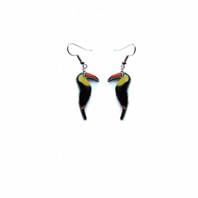 Tropical Toucan Bird Drop Earrings by EllyMental