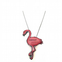 Sweetheart Pink Flamingo Necklace by EllyMental