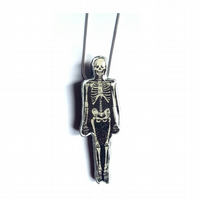 Skeleton Goth Halloween Spooky Resin Necklace by EllyMental