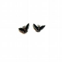 Bat Goth Halloween Spooky Resin Ear Studs by EllyMental