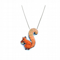 Whimsical Thrift Squirrel Necklace by EllyMental Jewellery