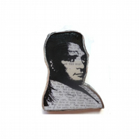 Kerouac literary beatnik Brooch by EllyMental