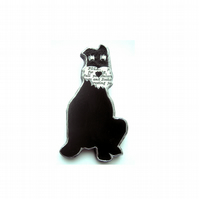 Whimsical Resin Schnauzer Brooch unisex by EllyMental