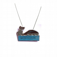 Unisex Whale and Sea nautical Necklace EllyMental