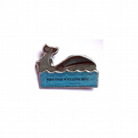 Unisex Whale and Sea nautical Brooch EllyMental
