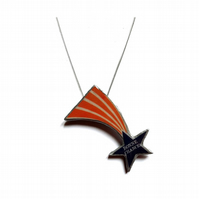 Wonderfully whimsical shooting star resin Necklace by EllyMental
