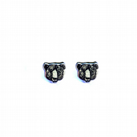 Wonderful black bear cufflinks by EllyMental