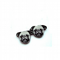 Wonderful little pug dog cufflinks by EllyMental