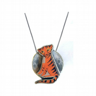 Amazing statement Tiger and moon William Blake Resin Necklace by EllyMental