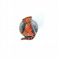 Amazing statement Tiger and moon William Blake Resin Brooch by EllyMental