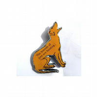 Howling Hound Dog Kate Bush lyrics Unisex Brooch by EllyMental Jewellery