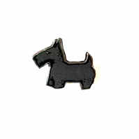 Whimsical Resin Scottie Dog Brooch unisex by EllyMental