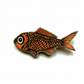 Whimsical big Goldfish pet Resin Brooch by EllyMental