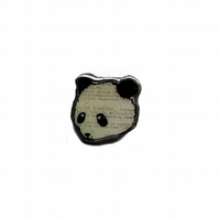 Whimsical little panda resin Brooch by EllyMental