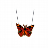 Beautiful bright Madame Butterfly resin necklace by EllyMental