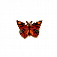 Beautiful bright Madame Butterfly resin brooch by EllyMental
