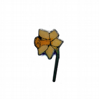 Lovely Yellow Daffodil St Davids Day Welsh Resin Flower Brooch by EllyMental
