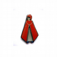 Whimsical 'Once Upon a Time' Red Riding Hood Brooch by EllyMental