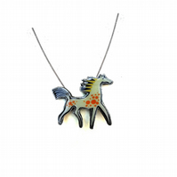 Whimsical Spotty Carnival Horse Necklace by EllyMental Jewellery