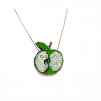 Whimsical resin Bramley Apple Necklace by EllyMental