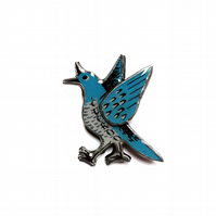 Blue quirky Cuckoo layered Resin Brooch by EllyMental
