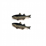 Fish Cufflinks literary & whimsical by EllyMental