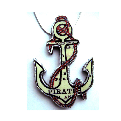 Pirate Anchor Necklace by EllyMental