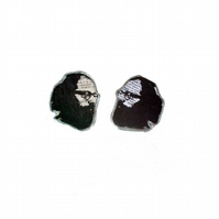 Literary Ginsberg beardy man Cufflinks by EllyMental