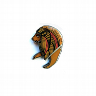 Walk on the Wild Side Lou Reed Lion Brooch by EllyMental