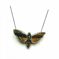 Death's Head Hawk Moth Gothic Necklace by EllyMental Jewellery