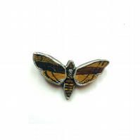 Death's Head Hawk Moth Gothic Brooch by EllyMental Jewellery