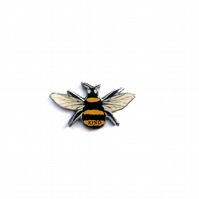 Bee Kind Brooch Whimsical resin Jewellery by EllyMental