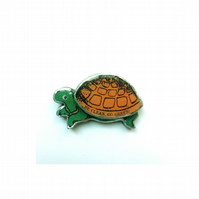 Special Price World Earth Day 'Be Clean, Go Green' Tortoise Brooch EllyMental