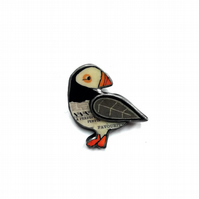 Wonderfully Whimsical Layered Puffin Scandi Brooch EllyMental