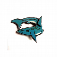 Jaws inspired 'You're gonna need a boat' blue Shark Brooch by EllyMental