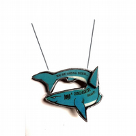 Jaws inspired 'You're gonna need a boat' blue Shark Necklace by EllyMental