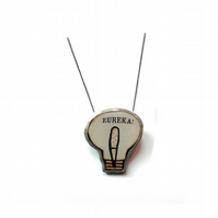 Wonderfully Whimsical Eureka! Bulb Resin Necklace by EllyMental