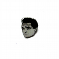 Johnny Cash Resin Brooch by EllyMental