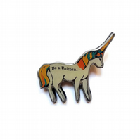 Whimsical 'Be a Unicorn' or 'Make a Wish' Unicorn Brooch by EllyMental