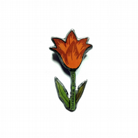 Bloomin' wonderful Layered Tulip Heart Resin Brooch by EllyMental