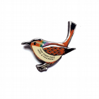 Bob Dylan 'The times they are a changin' Rainbow Bird Brooch by EllyMental