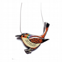 Bob Dylan 'The times they are a changin' Rainbow Bird Necklace by EllyMental