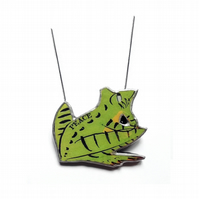 Lyrical 'Peace Frog' Doors inspired Resin Green Frog Necklace by EllyMental