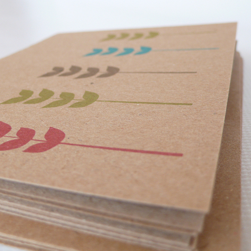 Stems notecards (manilla) - pack of four