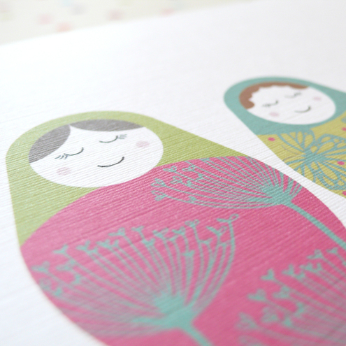 Russian Dolls notecards - pack of four