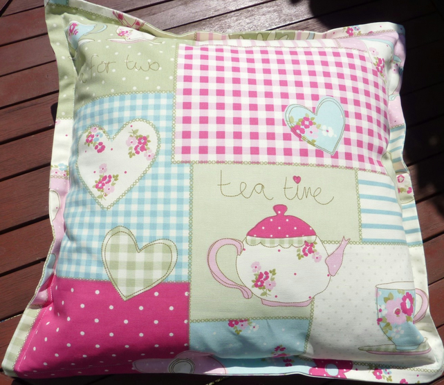Cushion -Vintage Tea for Two