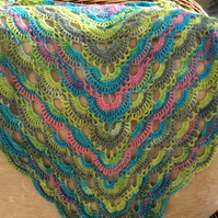 Handmade Crotchet Ladies Shawl