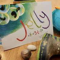 Jelly - a frog tale. Childrens' picture book about frog spawn & frog development
