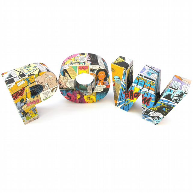 Gifts For Man Cave Uk : Comic book party pow letter super hero bedroom folksy