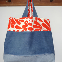 Upcycled Denim Market Bag